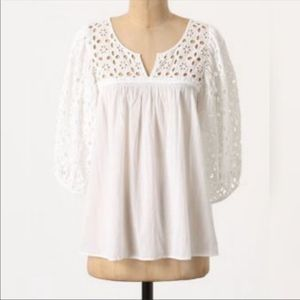 Anthropologie DIL Puff Sleeve Blouse